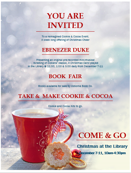 Come and Go Christmas at the Library